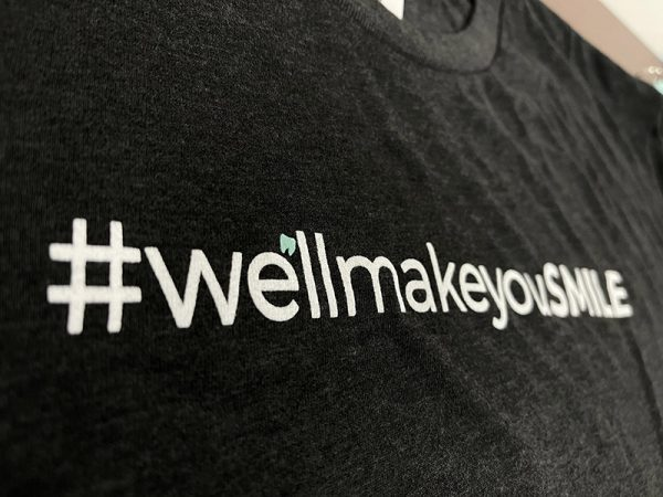 close-up image of #wellmakeyousmile